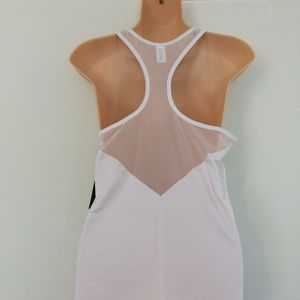 ATHLETA White Mesh Chi Tank